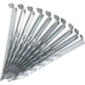 CAMPZ Picchetto da terra in acciaio 18cm ondulato, argento
